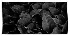 Dark Leaves Hand Towel by Tim Good