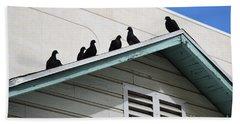 Dark Pigeons Bath Towel
