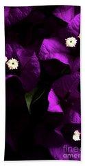 Dark Purple Bougainvillea Flowers Hand Towel