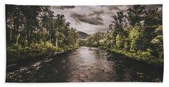 Dark River Woods Hand Towel