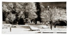 Dark Skies And Winter Park Hand Towel