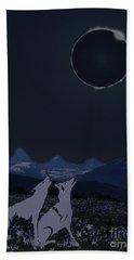 Dark Sky Eclipse Flare Bath Towel