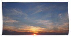 Hand Towel featuring the photograph Dark Sunrise by  Newwwman
