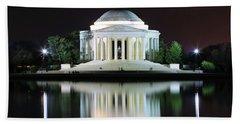 Darkness Over The Jefferson Memorial Hand Towel