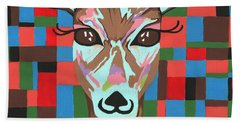 Bath Towel featuring the painting Darling Deer by Kathleen Sartoris