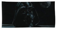 Bath Towel featuring the drawing Darth Vader Study by Meagan  Visser