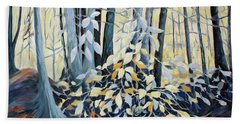 Hand Towel featuring the painting Natures Dance by Joanne Smoley