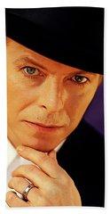 David Bowie As An Average Everyman Hand Towel