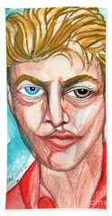 David Bowie In Red Shirt Hand Towel