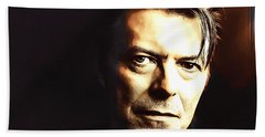 David Bowie In The Shadows Hand Towel