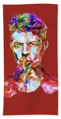 David Bowie  Hand Towel by Marian Voicu