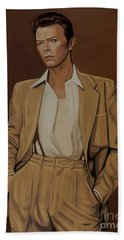 David Bowie Four Ever Hand Towel by Paul Meijering
