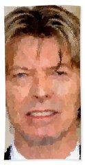 David Bowie Portrait Bath Towel