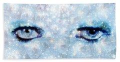 David Bowie / Stardust Hand Towel by Elizabeth McTaggart