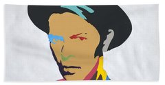 David Bowie Bath Towel by Stormm Bradshaw