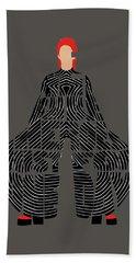 Bath Towel featuring the digital art David Bowie Typography Art by Inspirowl Design