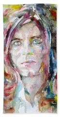 David Bowie - Watercolor Portrait.13 Hand Towel