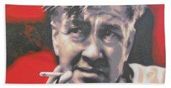David Lynch Bath Towel by Luis Ludzska