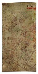 Davidson College Map Hand Towel by Paulette B Wright
