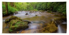 Davidson River In Pisgah National Forest Hand Towel