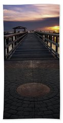 Davis Bay Pier Evening Light Hand Towel