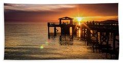 Davis Bay Pier Sunset 5 Bath Towel