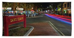 Davis Square Sign Somerville Ma Mikes Hand Towel