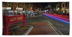Davis Square Sign Somerville Ma Mikes Bath Towel