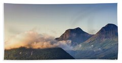 Dawn Along The Nordfjord  Hand Towel
