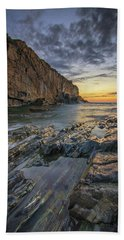 Dawn At Bald Head Cliff Hand Towel