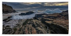Dawn At Bald Head Cliff Bath Towel by Rick Berk