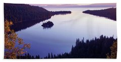 Dawn At Emerald Bay, Lake Tahoe Bath Towel