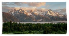 Dawn At Grand Teton National Park Bath Towel by Brian Harig