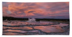 Dawn At Great Fountain Geyser Hand Towel