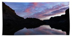 Bath Towel featuring the photograph Dawn At Lake Billy Chinook by Cat Connor