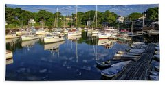 Dawn At Perkins Cove - Maine Bath Towel