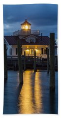 Dawn At Roanoke Marshes Lighthouse Hand Towel