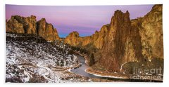 Dawn At Smith Rock State Park Hand Towel