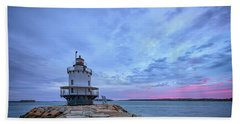 Dawn At Spring Point Ledge Lighthouse Hand Towel