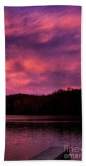 Bath Towel featuring the photograph Dawn At The Dock by Thomas R Fletcher