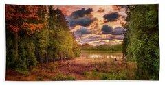 Dawn At The Lake Hand Towel