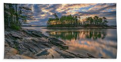 Dawn At Wolfe's Neck Woods Hand Towel by Rick Berk
