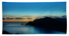 Dawn Blue In Mediterranean Island Of Minorca By Pedro Cardona Bath Towel