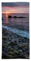 Hand Towel featuring the photograph Dawn, Camden, Maine  -18868-18869 by John Bald