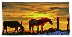 Dawn Horses Hand Towel