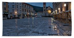 Dawn In Hvar Town - Croatia Hand Towel