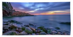 Dawn In Monument Cove Bath Towel by Rick Berk