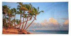 Bath Towel featuring the photograph Dawn In Punta Cana by Adam Romanowicz