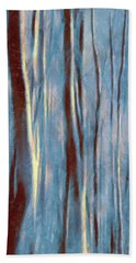 Dawn In The Winter Forest - Landscape Mood Lighting Bath Towel by Menega Sabidussi