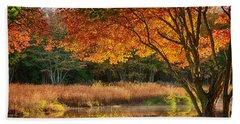 Dawn Lighting Rhode Island Fall Colors Hand Towel